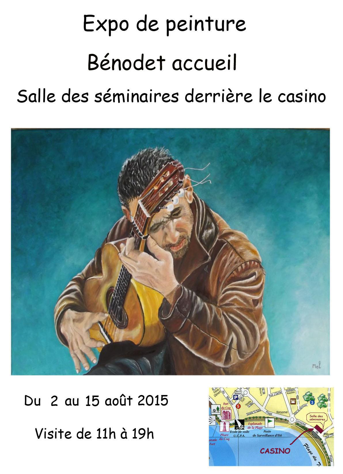 Affiche art peinture benodet 2016