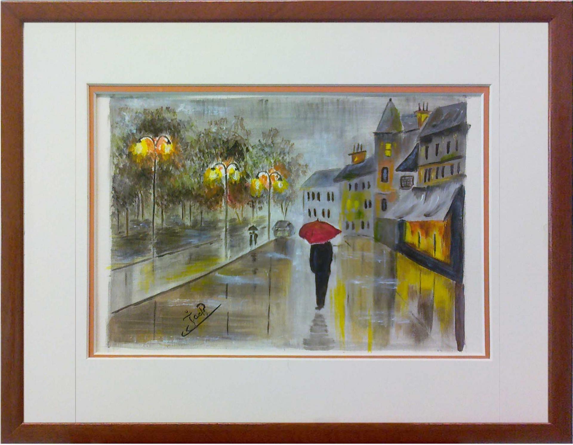 L homme au parapluie