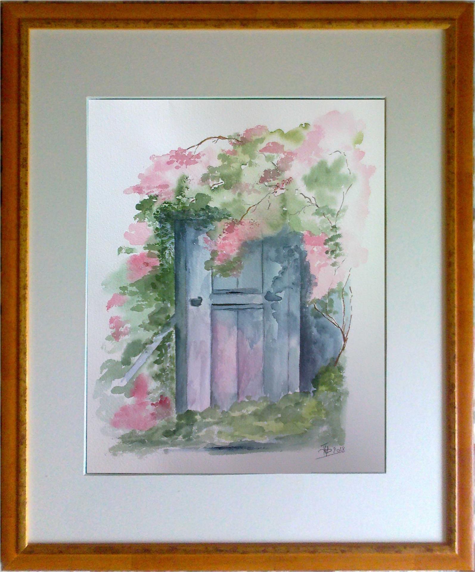 Porte secrete au jardin